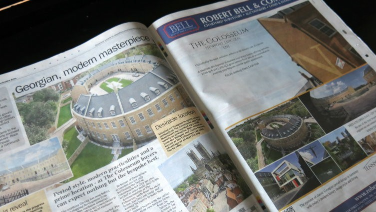 Lincolnshire Echo features the launch of The Colosseum!