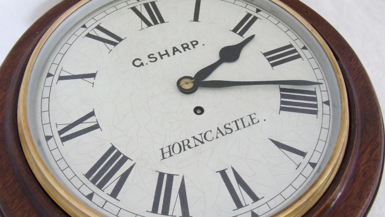 SOLD £315 - Lot 431: G Sharp, Horncastle, Wall Clock
