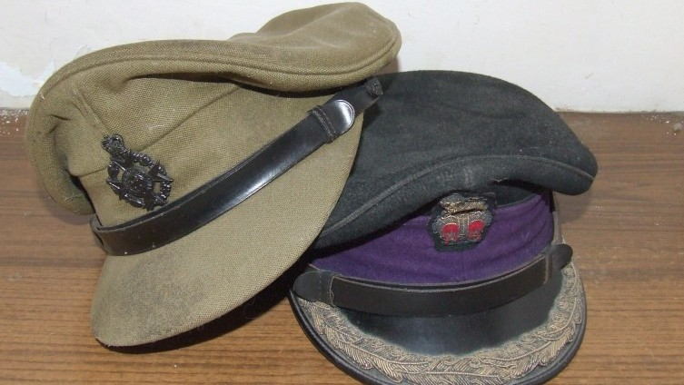 SOLD £40 - Military Caps