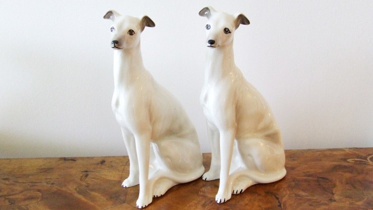 Staffs Style Ceramic Greyhound Figurines
