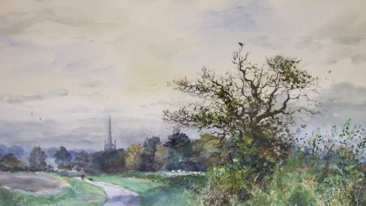 CJ Thornton - Watercolours of Lincs. Scenes (2)