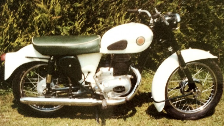 1962 Francis Barnett Cruiser 80 - No V5. (photo from owners records)